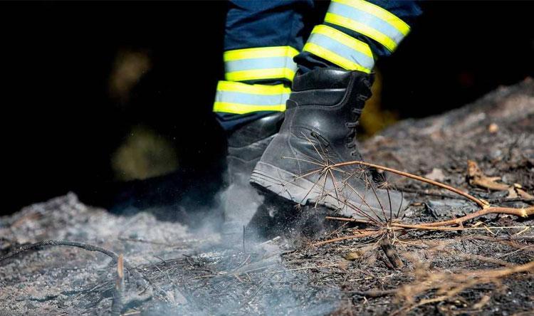 حريق مكب نفايات في قرطبا