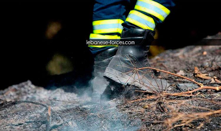 حريق نفايات وأسلاك كهربائية في عيناثا
