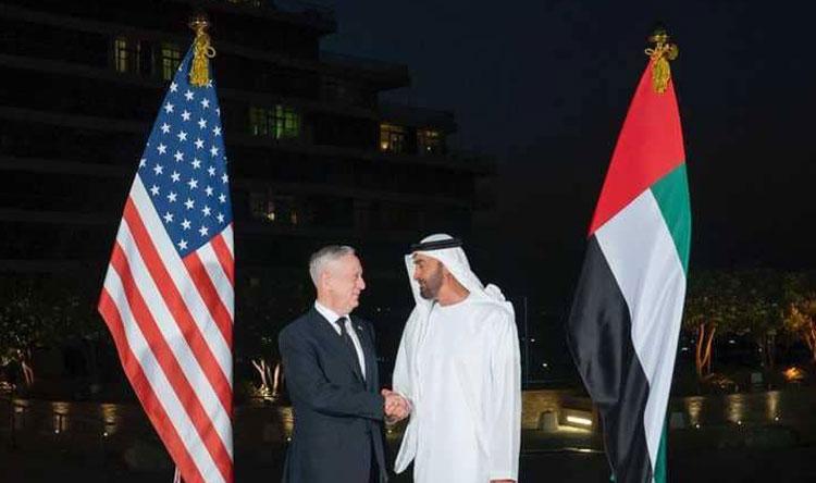 ولي عهد أبوظبي يلتقي وزير الدفاع الأميركي