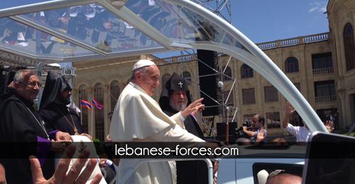 خاص بالصور: أرمن لبنان يشاركون بإستقبال البابا فرنسيس في يريفان