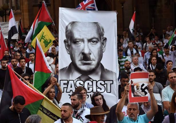 مئات الاشخاص يتظاهرون ضد نتانياهو في أوستراليا