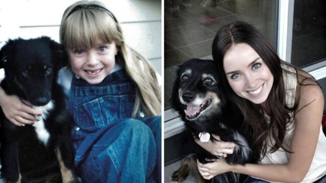 بالصورة: قبلت كلبتها.. فاستعادت بصرها