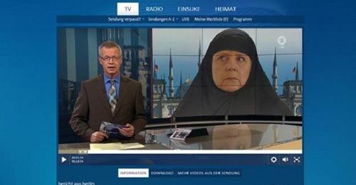 بالفيديو: ميركل في الحجاب… وجدل في المانيا