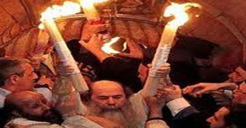 وصول شعلة النور المقدس الى بيروت
