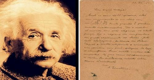 رسالة اعتراف أينشتاين بأن الله خلق العالم في المزاد