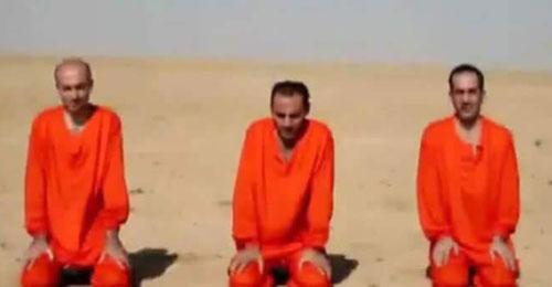 """فيديو يظهر إعدام """"داعش"""" لـ3 من المخطوفين الآشوريين في الحسكة"""