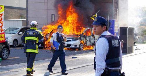 بالصور: قتيل وجريحان في انفجارين هزّا حديقة عامة في اليابان