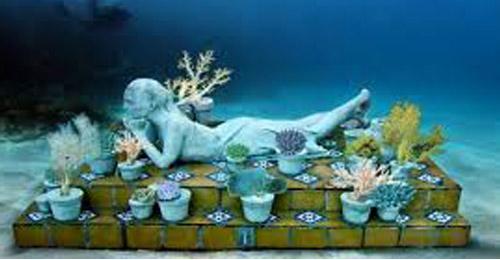 بالصور: أول متحف فني تحت الماء في المكسيك