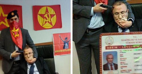 بالصور: جماعة يسارية تحتجز مدعياً عاماً في اسطنبول