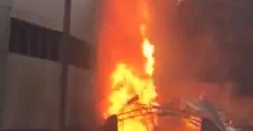 بالصور والفيديو: انفجار في خزان غاز في أدونيس واندلاع حريق هائل