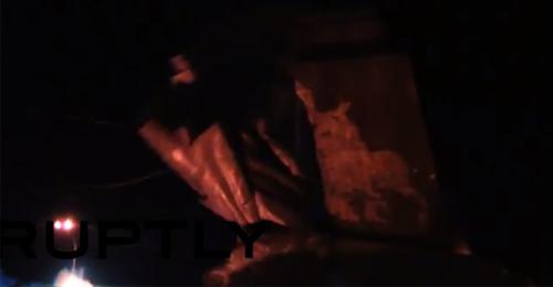 بالفيديو: لحظة إسقاط أكبر تمثال للينين في خاركوف الأوكرانية