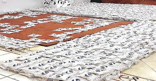 بالصور: ضبط 3 ملايين حبة مخدرة لوافد سوري من لبنان في مطار الكويت !