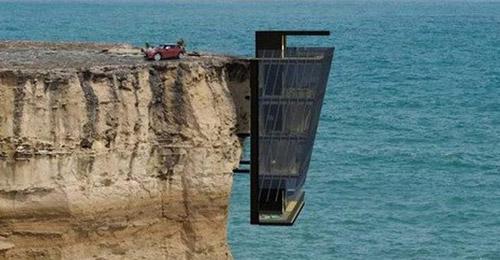 بالصور: منزل معلق في الهواء