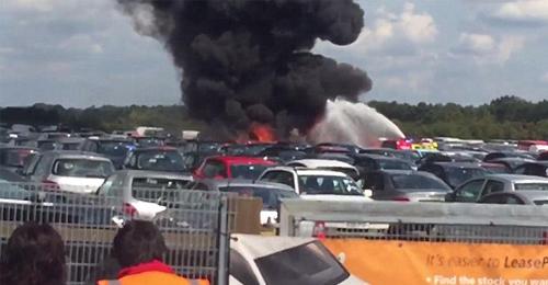 بالصور والفيديو: مقتل عائلة بن لادن في تحطم طائرة سعودية في لندن