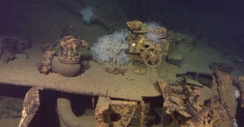 بالفيديو: العثور على حطام سفينة تعود للحرب العالمية الثانية