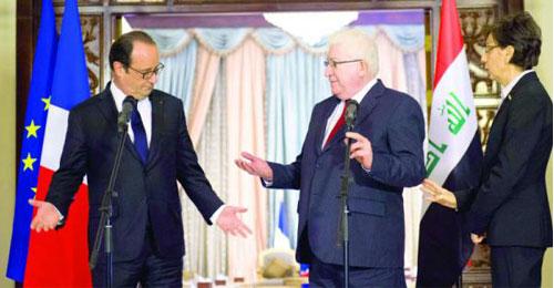 """افتتاح مؤتمر باريس بشأن العراق.. هولاند ومعصوم: لا بد من مواجهة تنظيم """"داعش"""""""