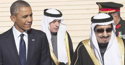 بالصور والفيديو: زحمة سير ولائحة الطعام وايقاف بروتوكول الاستقبال في لقاء الملك سلمان بأوباما؟!
