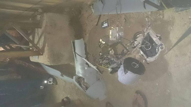 بالصور: تحطّم طائرة استطلاع في إيعات