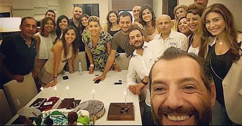 بالصور: Selfie عادل كرم والنجوم بعيد ميلاده