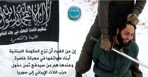 """""""الأناضول"""": """"جبهة النصرة"""" لم تتراجع عن إعدام الجندي علي البزال إلا بإطلاق جومانا حميد"""