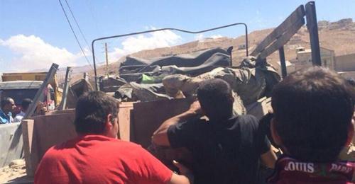 بالصور: إستهداف آلية للجيش في جرود عرسال وسقوط شهيدين وعدد من الجرحى