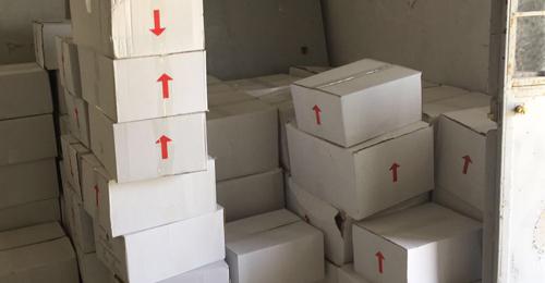 """بالصور: """" القوات"""" توزع حصصاً غذائية وأدوات منزلية في بلدة عين المير- جزين"""