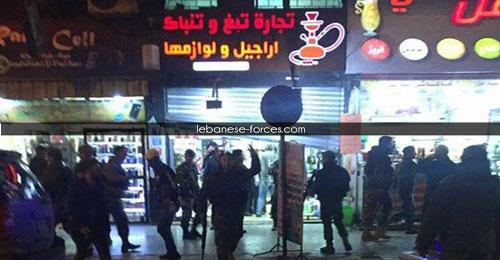 خاص بالصور: إطلاق نار خلال مداهمة للجمارك لأحد محلات بيع التبغ والتنباك