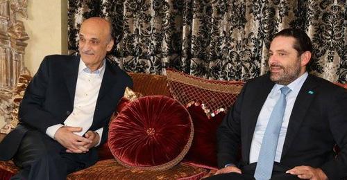 بالصور: جعجع يلتقي الحريري في معراب