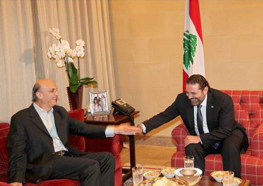 بالصور: لقاء جعجع – الحريري في بيت الوسط (بعدسة ألدو أيوب)