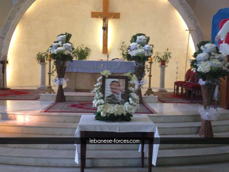 بالصور: قداس لراحة نفس الرفيق جوزيف الحاج احد ضحايا تحطم الطائرة الجزائرية
