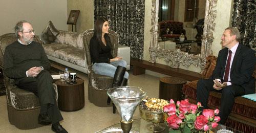 بالصور: النائبان جعجع وكيروز عرضا للوضع السياسي مع السفير البلجيكي