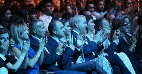 بالصور: النائب جعجع خلال الحفل الغنائي للفنانة جوليا بطرس