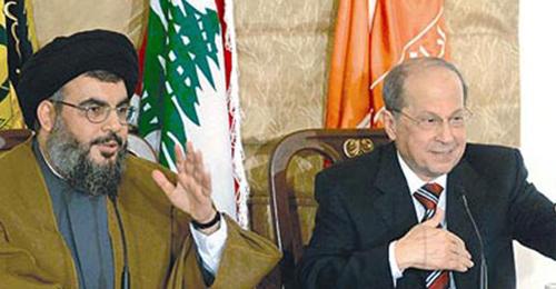 عون ونصرالله والأسد