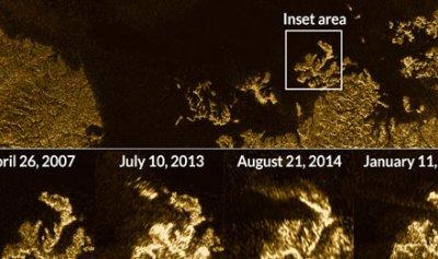 """جزيرة غامضة تظهر في البحر القطبي للقمر """"تيتان"""""""