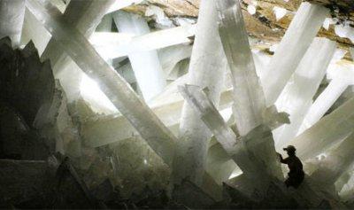 ميكروبات داخل بلورات الكهف عمرها 50000 سنة