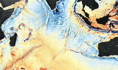 الجزء السفلي من المحيط يغرق