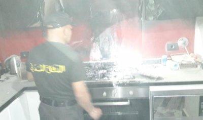 حريق داخل منزل في بقسطا