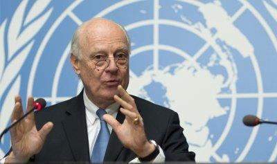 """دي مستورا يأمل بمحادثات سلام """"حقيقية وجوهرية"""" في تشرين الأول"""