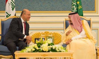 الملك سلمان بحث آخر التطورات مع رئيس العراق