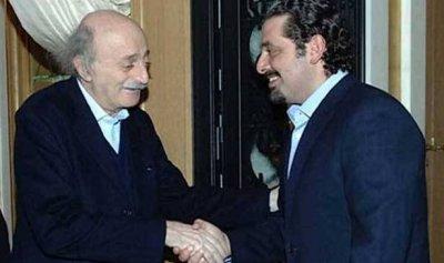 لقاء بين الحريري وجنبلاط في بيت الوسط