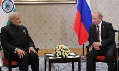 بوتين يستقبل مودي في سوتشي