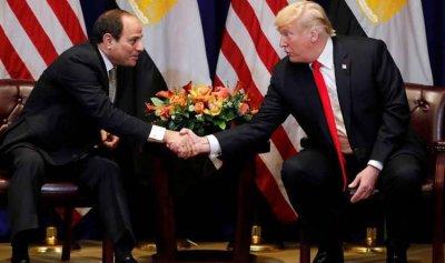 ترامب خلال لقائه السيسي: ندعم جهود مصر في مكافحة الإرهاب