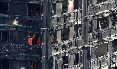 فشل 120 اختبارا للحماية من الحرائق في بريطانيا وتصادم بين ماي وكوربين