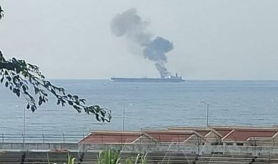 بالفيديو: انفجار يهز ناقلة نفط في سوريا