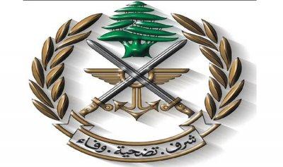 الجيش: توقيف 3 أشخاص في البقاع بجرم إطلاق النار