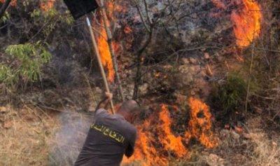 بالصورة: حريق في جديدة القيطع العكارية
