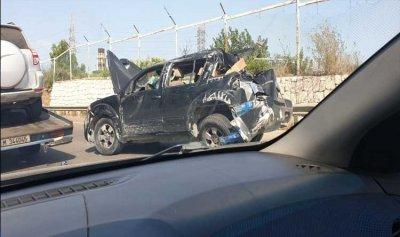 حادث سير على اوتوستراد الجية باتجاه صيدا