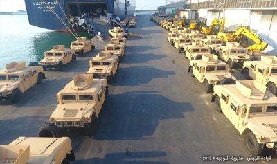 الجيش يتسلم آليات مقدمة من السلطات الأميركية