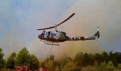 حريق كبير في الشوف وطوافات الجيش تتدخل