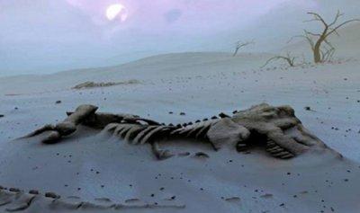 اكتشاف عظام متحجرة لديناصور في الأرجنتين
